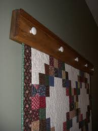 Quilt Holders for the Wall | Items similar to Wall-hanging Quilt ... & Quilt Holders for the Wall | Items similar to Wall-hanging Quilt Rack /  Quilt Adamdwight.com