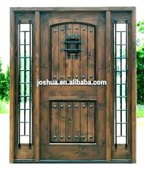 glass front door doors wood and iron entry cut inserts