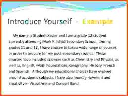 Essays About Myself Introduce Yourself Format Of Introduction Essay