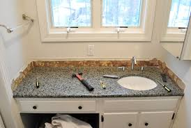 removing the side splash backsplash from our bathroom sink young house love
