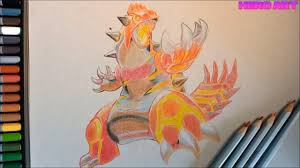 How to draw the legendary pokemon Groudon in the color of Marco Raffine