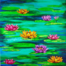 waterlilies painting original art