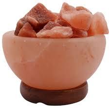 accentuations himalayan salt lamp fire bowl loose natural rocks dimmer