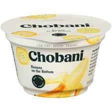 chobani banana on the bottom 2 low fat greek yogurt