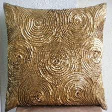 euro sham covers. Contemporary Covers Designer Gold Euro Shams Covers 26u0026quotx26u0026quot Pillow Cases  Spiral Sequins Intended Sham Covers