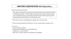 expository essays general information characteristics of an  written composition 2 expository the following quotation