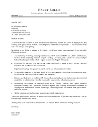 Elementary Teacher Cover Letter Samples Examples Of Excellent