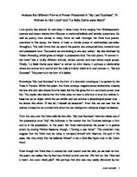 analyse the different forms of power presented in my last duchess  page 1 zoom in