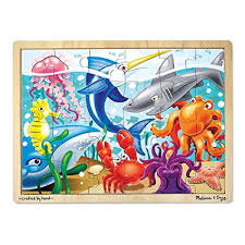Buy Melissa & Doug Under The <b>Sea Wooden Jigsaw Puzzle</b> ...