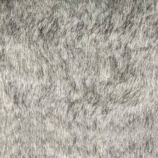 gray with black tips faux fur fabric rug 8x10