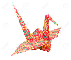 Colorful Traditional Japanese Origami Bird Stock Photo Picture And