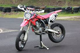 supermotard converting honda s crf150r in a supermoto weapon
