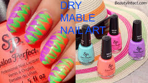 How to do Dry Marble, (without water) Water Marble Nail Art ...