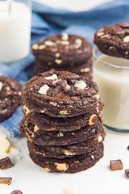 These vegan double chocolate cookies are soft, chewy and chunky. Ultimate Double Chocolate Chip Cookies The Flavor Bender