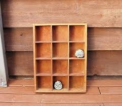 spced creting shdow stge vintge divided wooden box shadow divided wooden box tool hmade