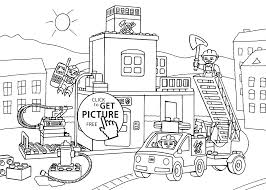 Small Picture fire station coloring page for kids printable free Lego Duplo