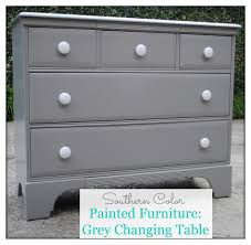 modern painted furniture. Painted Furniture: Grey Changing Table Modern Furniture C
