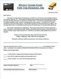 Classroom Forms For All Field Trip Letter To Parents Template Parent