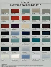 Aston Martin Color Chart Details About 1997 Mercury Color Chart Chip Paint Brochure Grand Marquis Sable Cougar Xr7