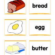 Food Flash Cards Kitchen Flashcards