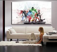 the avengers modern art canvas wall paintings cuadros decorativos with regard to wall art paintings for living room on wall art canvas for living room with the avengers modern art canvas wall paintings cuadros decorativos