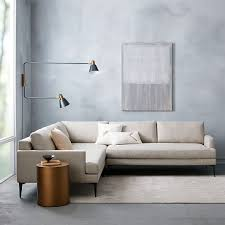 andes 3 piece sectional stone twill west elm astonishing home stores west elm
