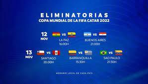 Las eliminatorias europeas a qatar 2022 están divididas en 10 grupos y hay varias sorpresas al término de la culminó la tercera jornada de las eliminatorias qatar 2022 para europa, donde la. Eliminatorias Qatar 2022 En Vivo En Directo Ver Resultados De La Fecha 3 Y Tabla De Posiciones Peru Vs Chile Colombia Vs Uruguay Brasil Vs Venezuela Argentina