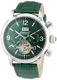 ingersoll men s automatic watch belle star in1826gr leather ingersoll men s automatic watch belle star in1826gr leather strap
