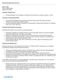 Appraiser Sample Resumes Best Real Estate Appraiser Resume Examples Estate Appraiser Resume