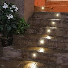 led stair lighting kit. outdoor led recessed stair light kit 8 pack dekor lighting throughout cool