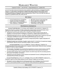 Financial Sales Consultant Sample Resume New Accounts Payable Resume Sample Monster