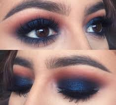 which eye makeup for blue dress