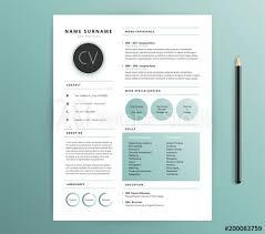 Resume Cv Template Design Nature Feel Green Color