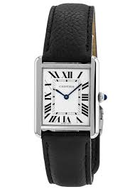 cartier tank solo large size leather strap women s watch wsta0028 watchma com