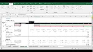 cash flow model excel financial analysis basic cash flow model with free excel template