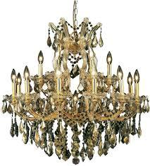elegant lighting 2800d30g gt rc maria theresa 19 light 30 inch gold dining chandelier ceiling light in golden teak royal cut