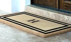 personalised floor mats on floor on double door mat indoor front door mats outdoor floor mats
