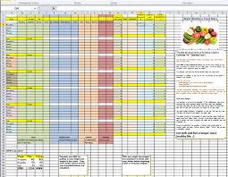 diet spreadsheet waist watchers diet plan simplified spreadsheet based on the