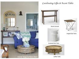 how to coordinate coffee accent tables like a designer maria killam