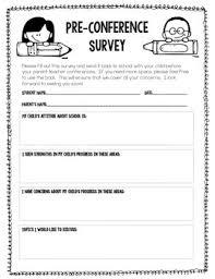 Parent Teacher Conference Form Template Parent Teacher Conference Forms Free Printable