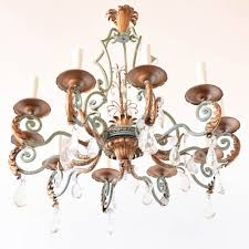 large iron and crystal chandelier from belgium