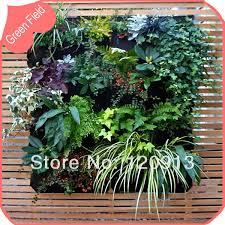 12 bolsillos vertical garden muralla verde planter pot fieltro bolsa de bolsillo decorativo home garden flor