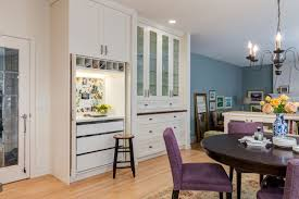 hidden home office. Two Images Of A Hidden Home Office Inside Kitchen Cabinetry With Integrated Lighting, One Shot