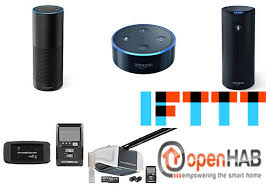 how to get chamberlain myq to work with alexa echo using openhab and