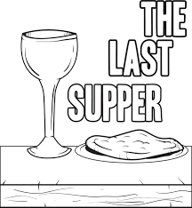 Small Picture Free Printable The Last Supper Coloring Page for Kids