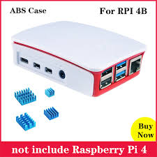 New Arrival Raspberry Pi 4 <b>ABS Case</b> White red <b>Black ABS</b> Plastic ...