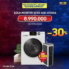 Siêu Thị Điện Máy - Nội Thất Chợ Lớn - ▪️ Máy giặt AQUA Inverter 10.0 Kg  AQD-D1000A GIẢM 30% Giá còn: 8.990.000 (̶1̶̶2̶̶.̶̶9̶̶9̶̶0̶̶.̶̶0̶̶0̶̶0̶) -  Số lượng có hạn + Giảm #3Triệu