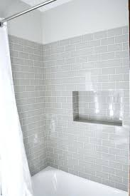 old bathroom tile. Tiles:Gray Subway Tile With White Tub Could Bring In Color Through The Walls And Old Bathroom A