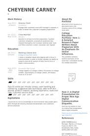 Grocery Resume Samples Visualcv Resume Samples Database