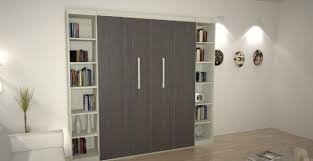 contemporary murphy bed. Exellent Contemporary View In Gallery Contemporary Bedroom With Murphy Bed Flanked By Bookshelves And D